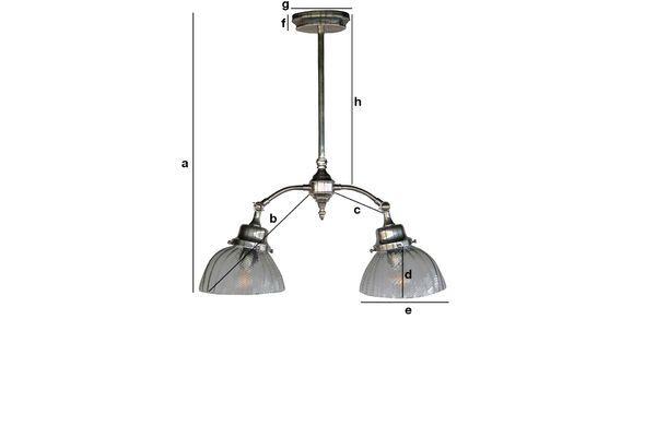 Dimensioni del prodotto Plafoniera Art Nouveau Haussmann