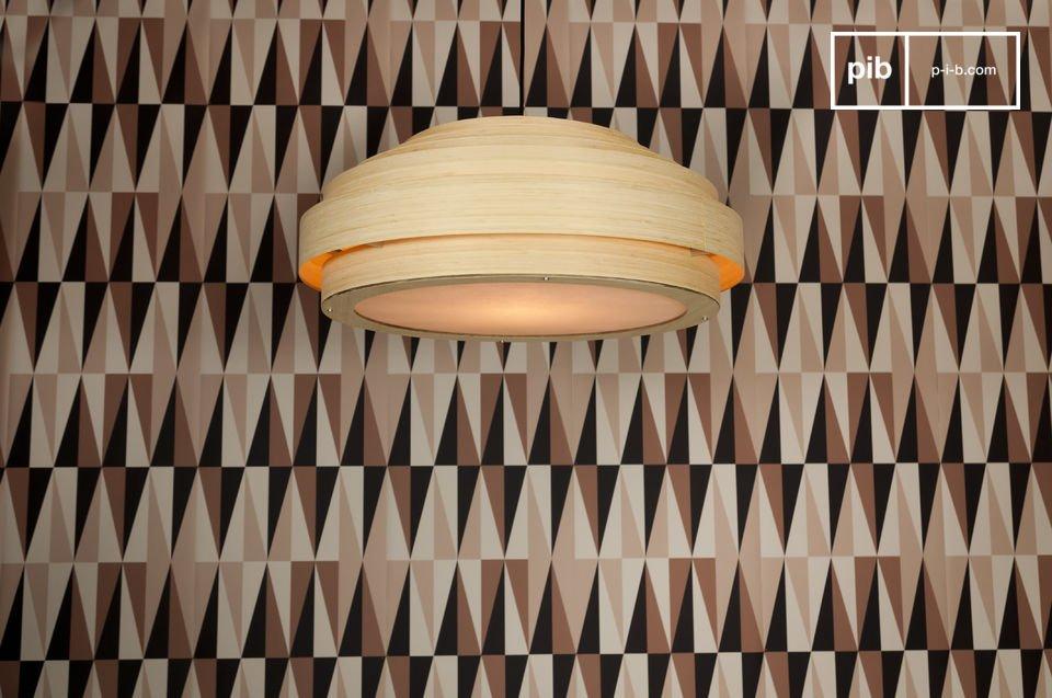 Plafoniere Tessuto Grandi Dimensioni : Plafoniera bamboo eleganza e stile scandinavo pib