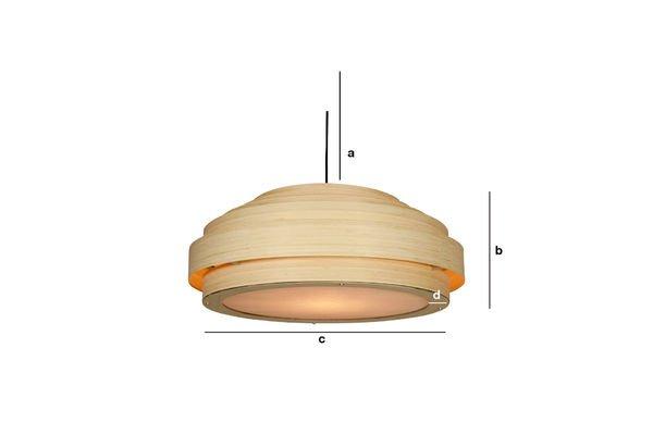 Dimensioni del prodotto Plafoniera Bamboo
