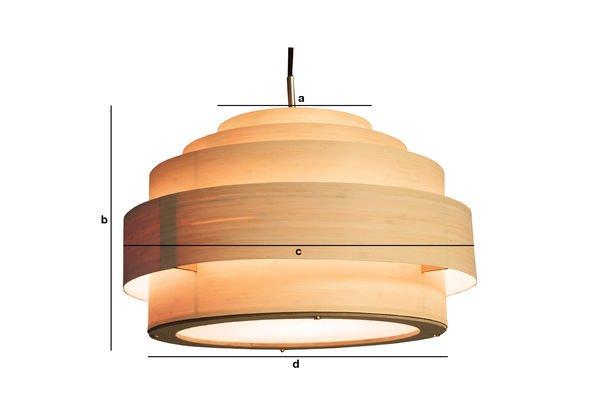Dimensioni del prodotto Plafoniera in bamboo 40cm