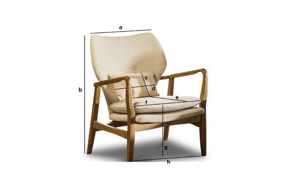 Dimensioni del prodotto Poltrona Breda