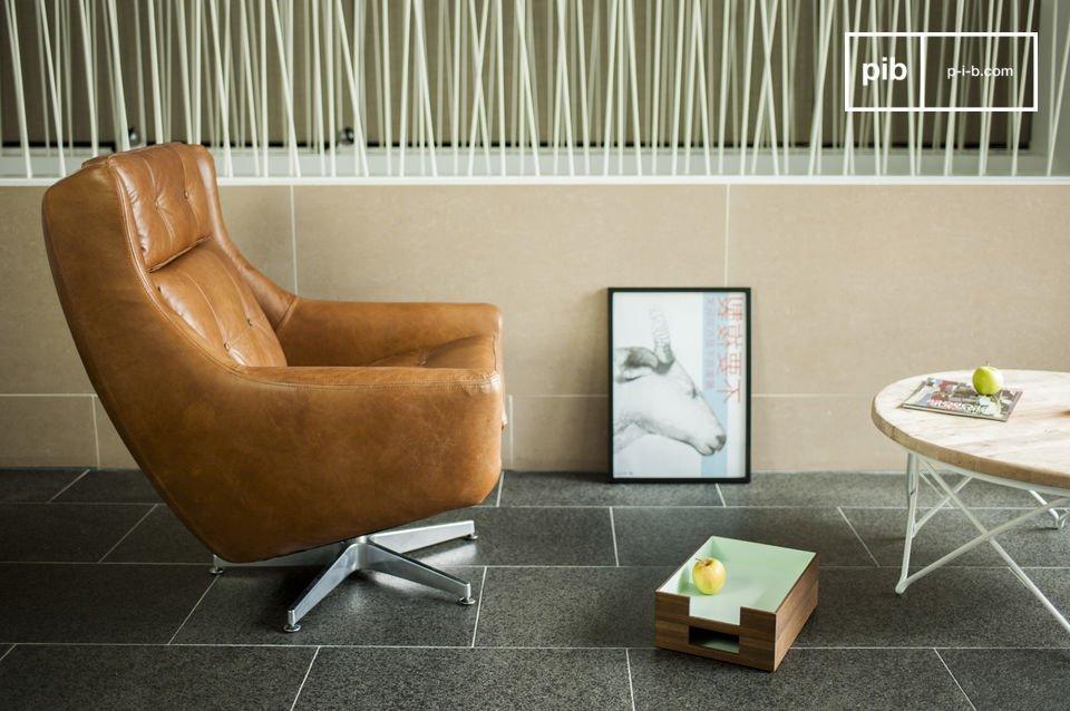La poltrona vintage Bushley è il perfetto esempio di arredamento di design degli anni 60 tipico nel