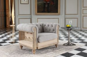 Poltrona Chesterfield Montaigu grigio