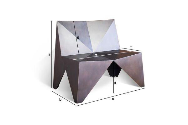 Dimensioni del prodotto Poltrona di metallo Polygone