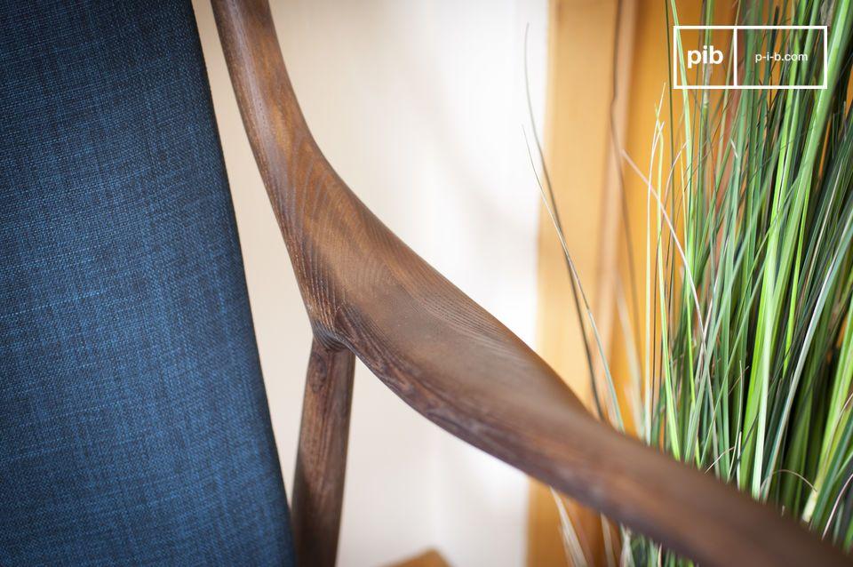 Poltrona doppia in legno di frassino Graham