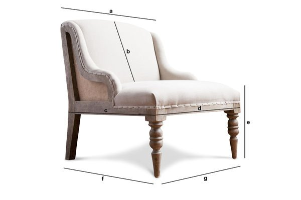 Dimensioni del prodotto Poltrona Dumas
