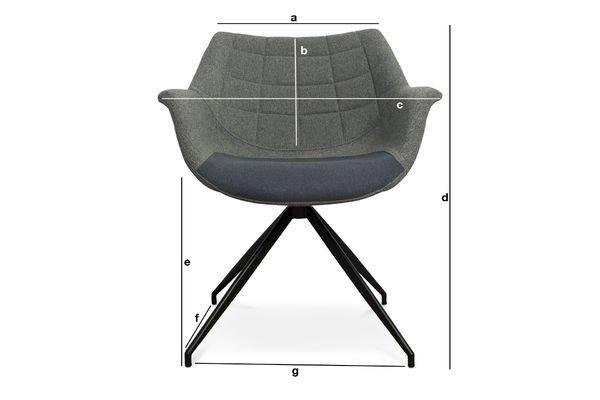 Dimensioni del prodotto Poltrona Grimsson grigia