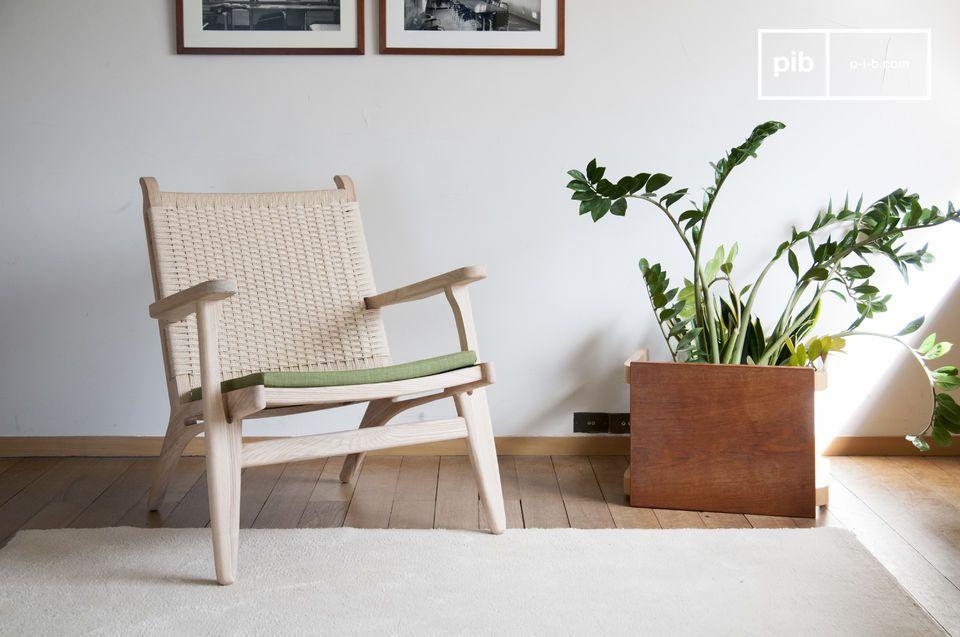 Poltrona in legno di quercia Satow