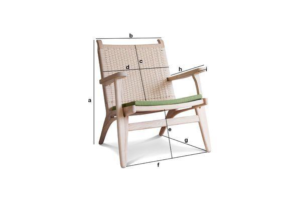 Dimensioni del prodotto Poltrona in legno di quercia Satow