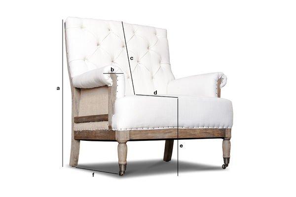 Dimensioni del prodotto Poltrona in lino Edmond