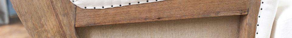 Materiali prima di tutto Poltrona in lino GUSTAVE