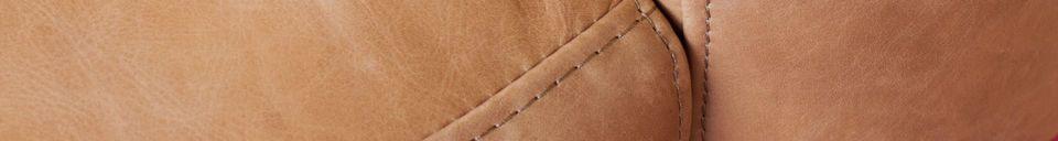 Materiali prima di tutto Poltrona in pelle marrone Almond