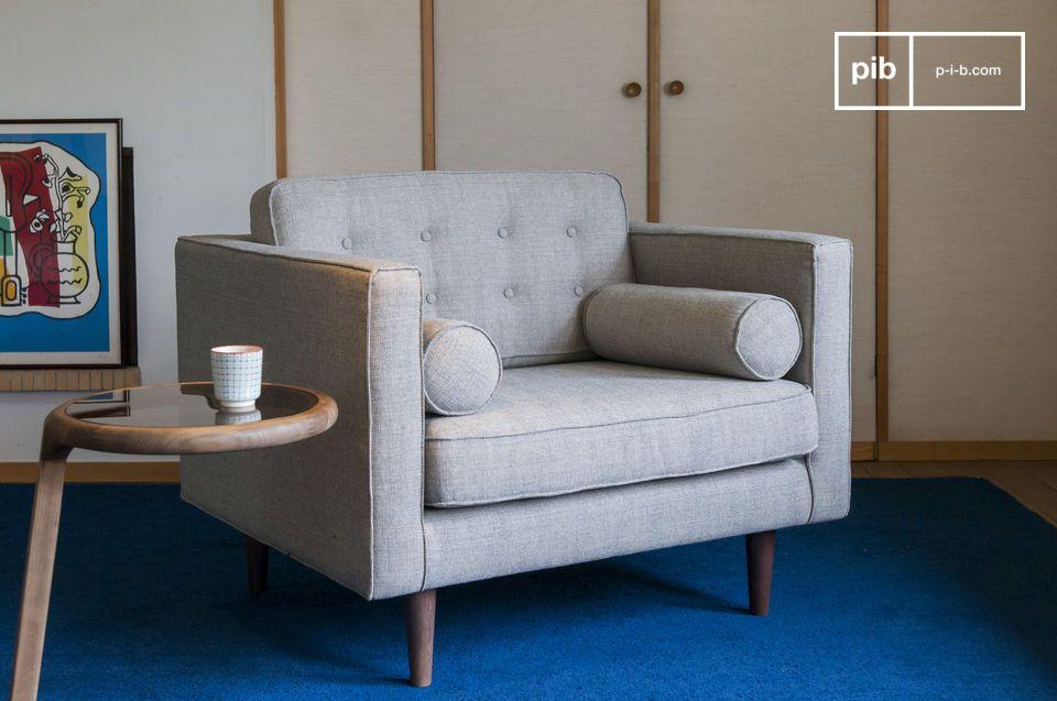Sostenuta da cinghie in velcro, i cuscini sono sfoderabili e rimovibili per una pulizia facile