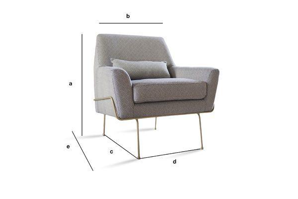 Dimensioni del prodotto Poltrona lounge HILDA