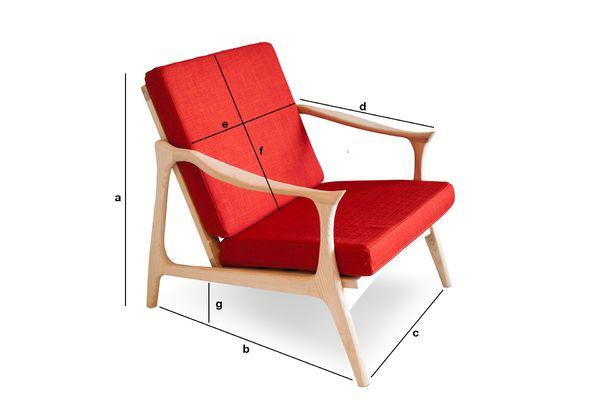 Dimensioni del prodotto Poltrona scandinava Aarhus
