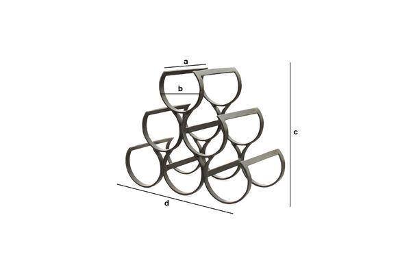 Dimensioni del prodotto Portabottiglie per 6