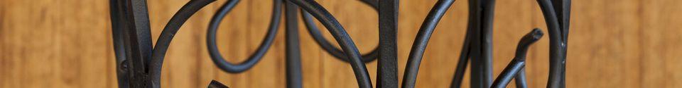 Materiali prima di tutto Portaombrelli in ferro nero Konz
