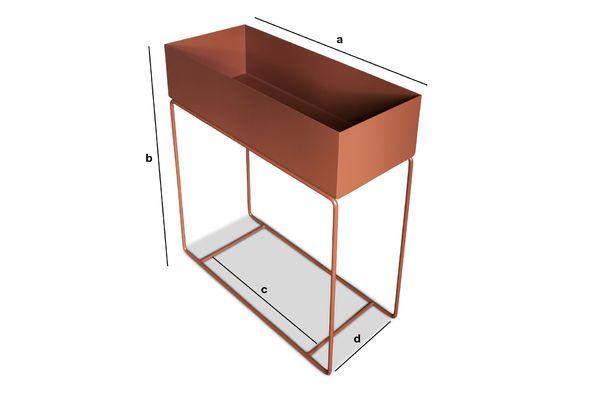 Dimensioni del prodotto Portapiante su piede metallico color ocra