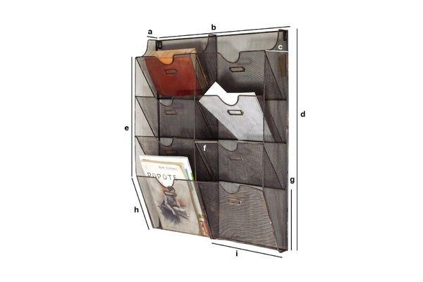 Dimensioni del prodotto Portariviste Metallico da Parete