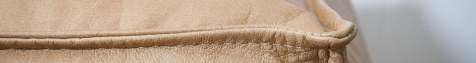 Materiali prima di tutto Pouf in pelle Marsliden