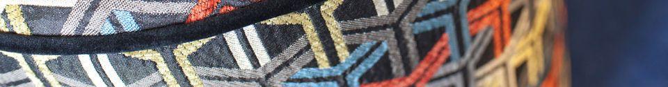 Materiali prima di tutto Pouf in tessuto grafico Toumani