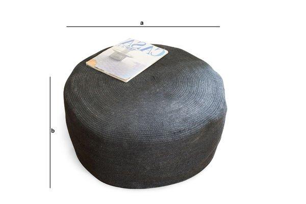 Dimensioni del prodotto Pouf Sissal