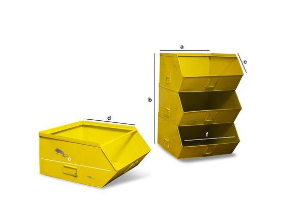 Dimensioni del prodotto Scaffale 4 piani Félix