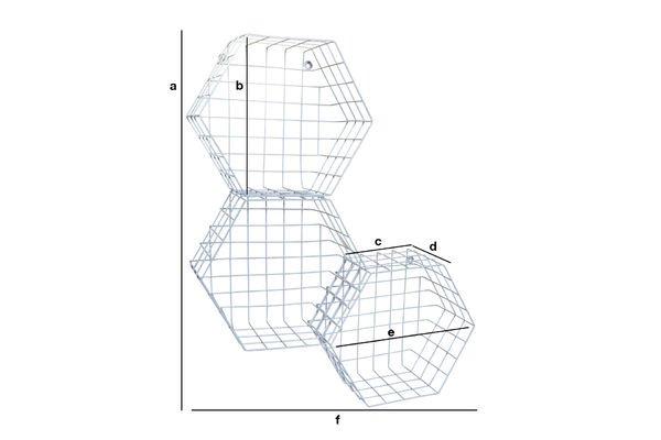 Dimensioni del prodotto Scaffale Léa