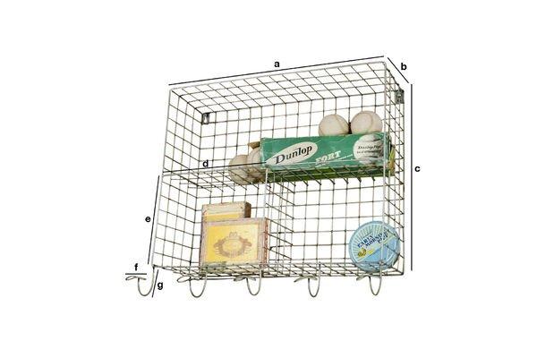 Dimensioni del prodotto Scaffali a cesta con appendini