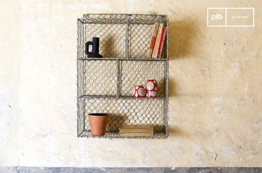 Scaffaliera da muro con 5 scompartimenti