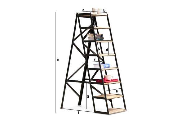 Dimensioni del prodotto Scaletta D'Atelier a 8 scalini