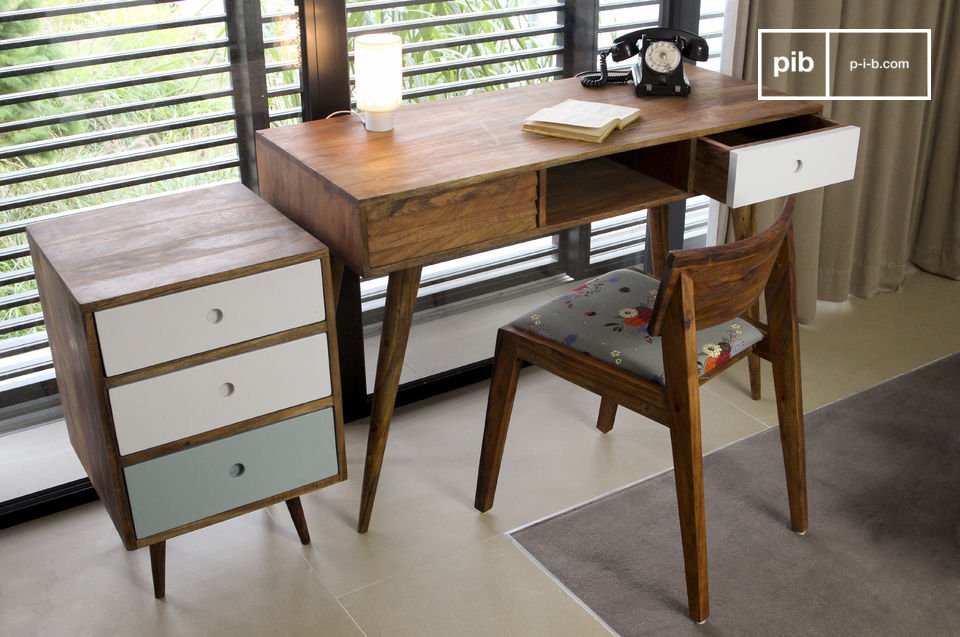 Una elegante scrivania che trae ispirazione dai mobili in stile Scandinavo