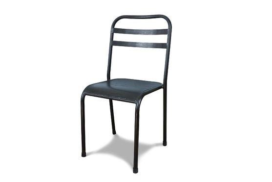 Sedia accatastabile in metallo marrone Foto ritagliata