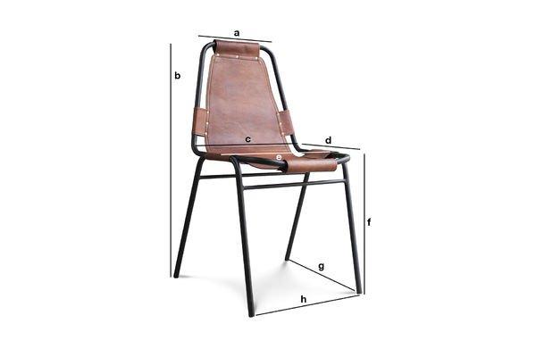 Dimensioni del prodotto Sedia Bergson