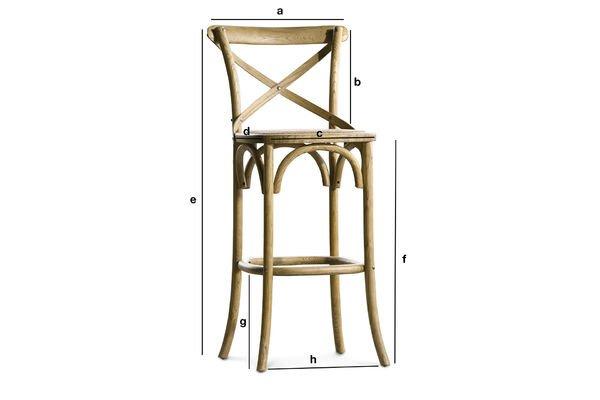 Sedia da bar pampelune legno robusta pratica pib
