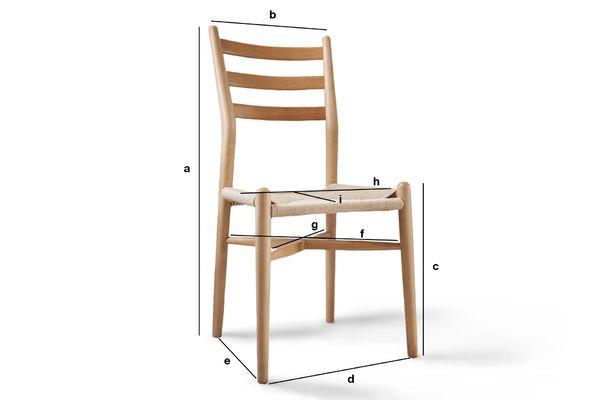 Dimensioni del prodotto Sedia in legno YSTAD