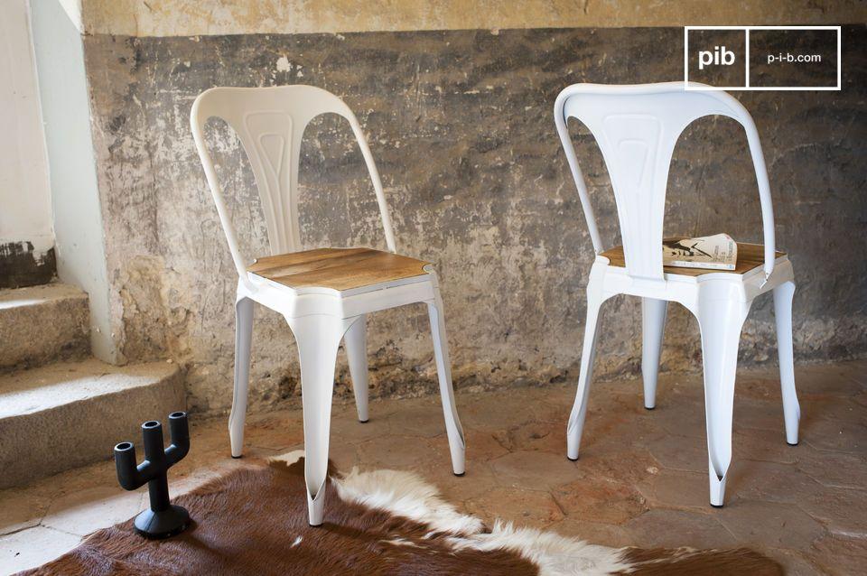 Sedia in metallo e legno Multipl's