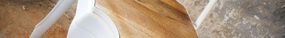 Materiali prima di tutto Sedia in metallo e legno Multipl's
