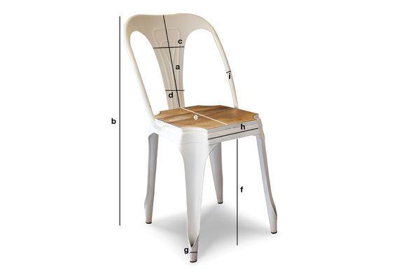 Dimensioni del prodotto Sedia in metallo e legno Multipl's