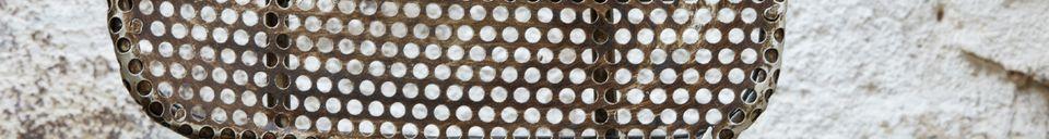 Materiali prima di tutto Sedia Industrial con lamiera traforata