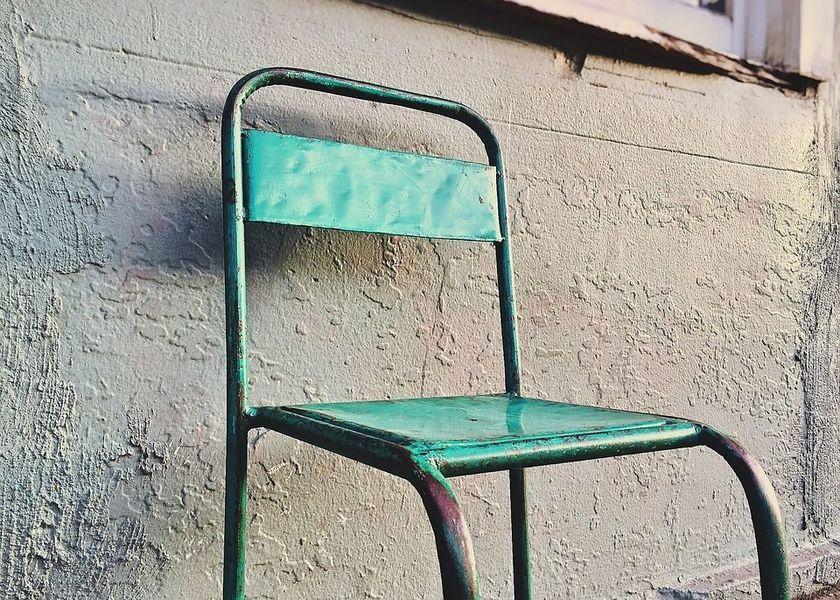 sedia industriale retro