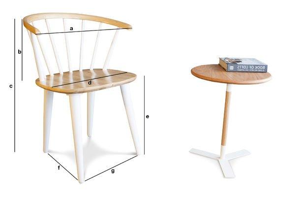 Dimensioni del prodotto Sedia  Lidingö