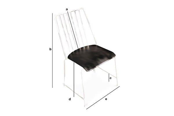 Dimensioni del prodotto Sedia metallica Hossegor