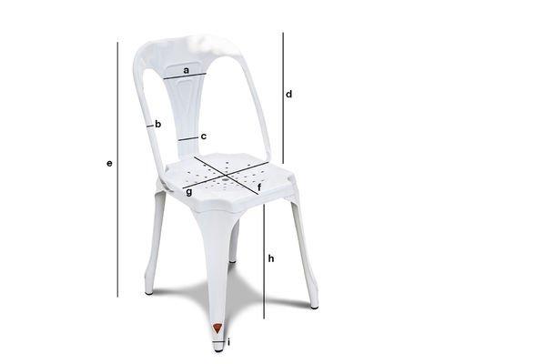 Dimensioni del prodotto Sedia Multipl's bianca