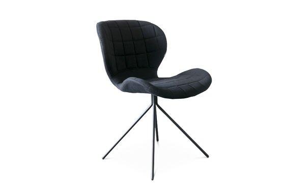 Sedia nera Hetsik Foto ritagliata
