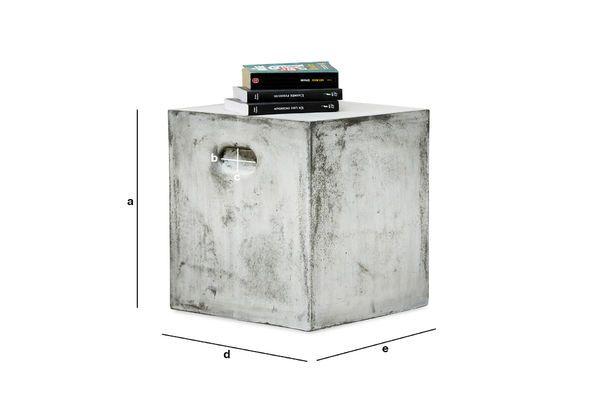 Dimensioni del prodotto Sedia occasionale cubica Smaton