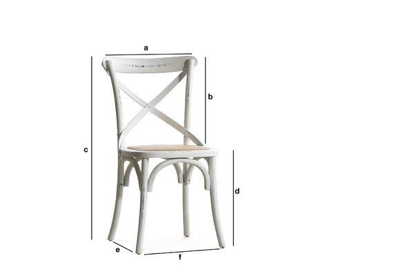 Dimensioni del prodotto Sedia Pampelune bianca