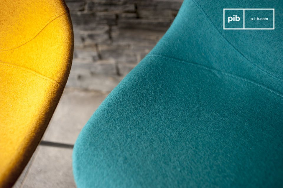 Le sedie retro come la Piramis sono perfette per portare intimità nella vostra sala da pranzo