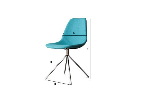 Dimensioni del prodotto Sedia Piramis blu