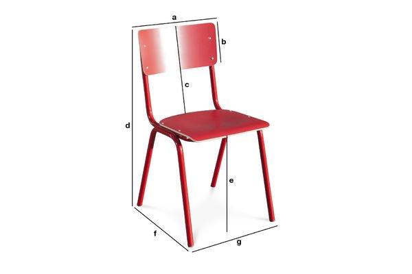 Dimensioni del prodotto Sedia Skole Rossa